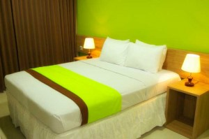 kamar double green hotel BMI Lembang